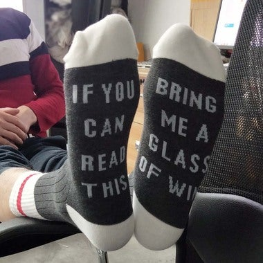 New Women Men Unisex Beer Socks If You Can Read This Bring Me A Glass Of Wine