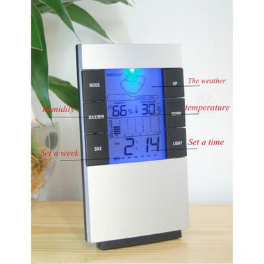 Happy New Year! CN Brand Cool Gift Electronic Weather LED Digital Alarm Clock Ho