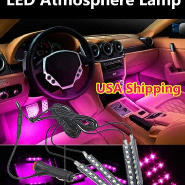 Car Interior Lights Car Auto Floor Lights,Waterproof Glow Neon Light Strips Deco