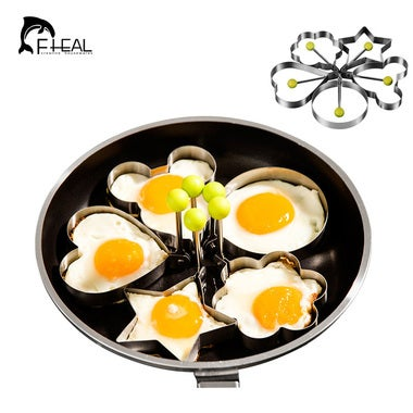 FHEAL 5pcs/lot Stainless Steel DIY Food Fried Egg Mold Omelette Device Model Egg