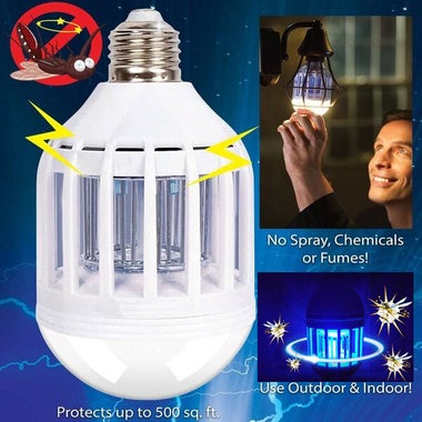 Bulb Mosquito Electronic Killer Night Light Lamp Insect Flies Repellent House Ac