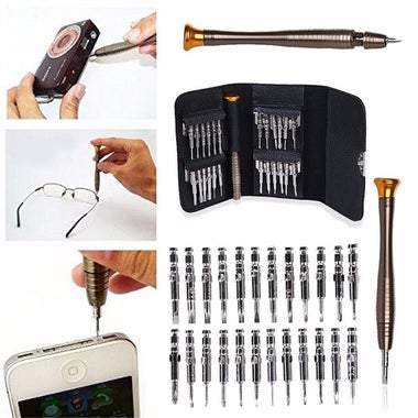 25 Pcs Precision Screwdriver Set Repair Opening Tool Kit for Laptop Mobile Phone