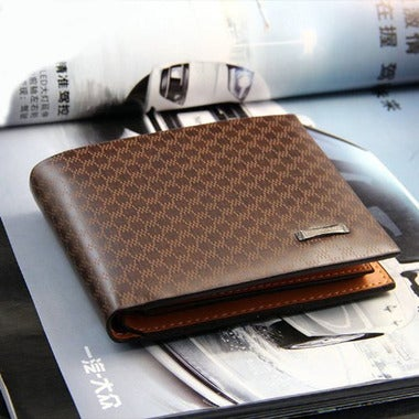 Men's Leather Bifold ID Card Holder Purse Wallet Billfold Handbag Slim Clutch Va