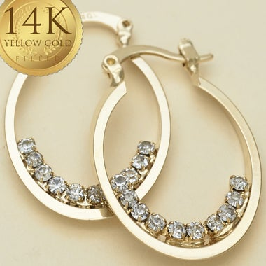 Prong Set Vintage Earring Design, 3.0 ctw White Sapphire Gem Halo Cut, 14K Gold