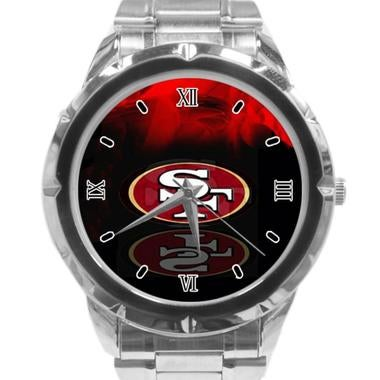 San Francisco 49ers Custom Casual Stainless Steel Band Dress Wrist Watch