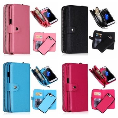 2 In 1 Wallet Case For iPhone X iPhone 8 Plus iPhone 7 Plus iPhone 6 6S Plus 5 5