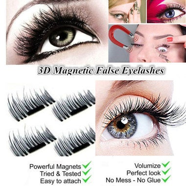 False Eyelashes Natural Eye Lashes Extension Women 3D Magnetic Hot No Glue Handm