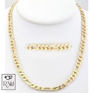 14k Gold Filled Figaro Chain