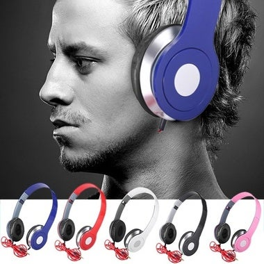 New Headphones Stereo Foldable Sport Earphone Microphone headset earphone 2018