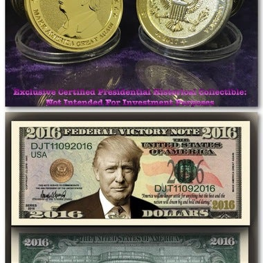*EXCLUSIVE* 45th President Donald Trump * Make America Great Again * 1 oz Gold C