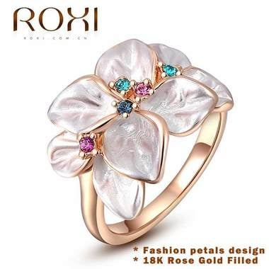 Luxury Brilliant AAAAA CZ Wedding Ring Rose Gold color Engagement Jewelry Jewelr