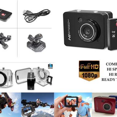 NEW HIGH DEFINITION Compact Sports Action Camera For Sky Diving Biking Running D