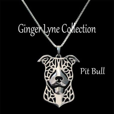 Gorgeous Pit Bull Dog Pendant and 20