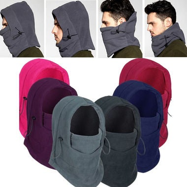Great Gift for Christmas 6 in 1 Thermal Fleece Balaclava Outdoor Ski Masks Bike