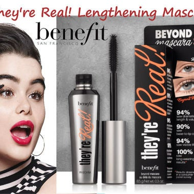 Benefit Cosmetics they're real! lengthening mascara Black