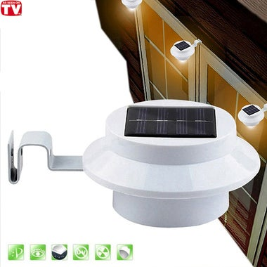 1 PCS LED Solar Gutter Utility Outdoor Light Fence Yard Wall Gutter Pathway Gard