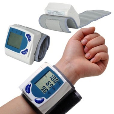 Automatic Wrist digital lcd blood pressure monitor portable Tonometer Meter for
