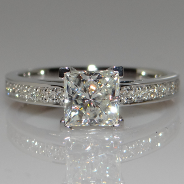 Super Shinning 1 carat White Gold Filled clear AAA zircon ring