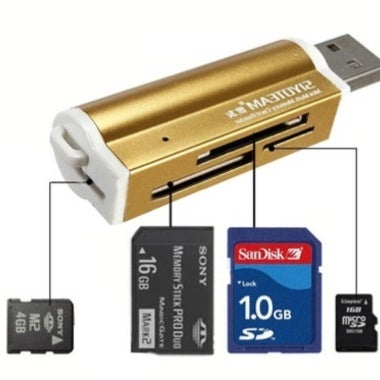 Micro SD/TF M2 MMC SDHC MS Duo High Speed multi usb 2.0 all in one card reader¡ê