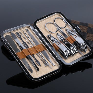 10 in 1 Perfect Stainless Steel Nail Art Manicure Tools Set Nails Clipper Scisso