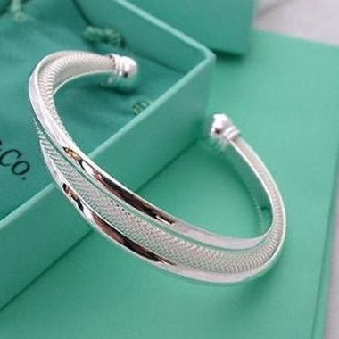 Cuff Bracelet Bangle Chain Wristband Women Fashion Jewelry