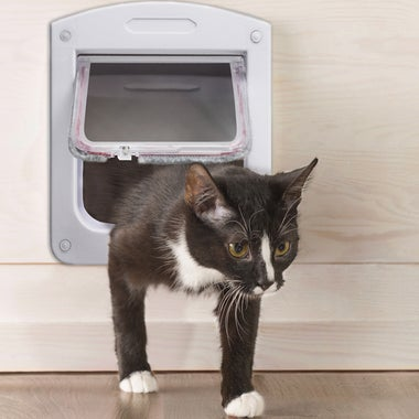 4-Way Lockable Cat Flap Pet Door