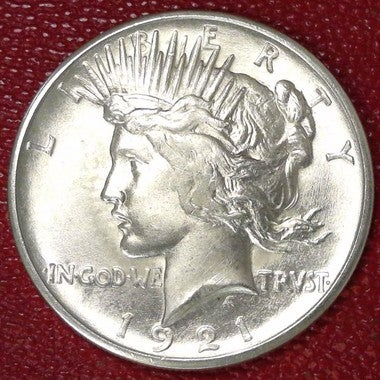 Replica 1921-P Stunning Gem Brilliant Uncirculated Prooflike Peace Silver Dollar