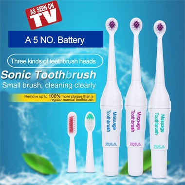 CN CN Sonic Electric Toothbrush Waterproof Deep Clean Teeth Whitening Non-Rechar