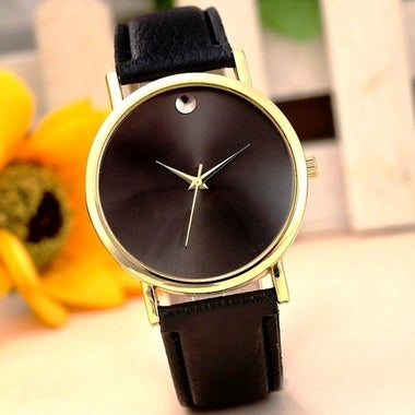 Black Analog Quartz Wrist Watch