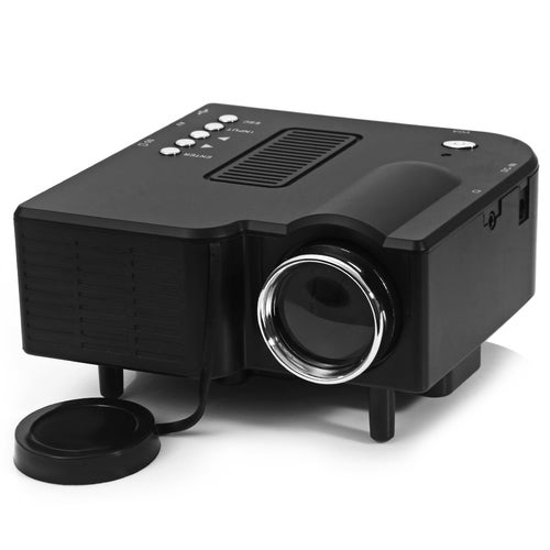 UC - 40 400 Lumens Two Colors Portable Home Mini LED Projector Support AV / SD / VGA / HDMI