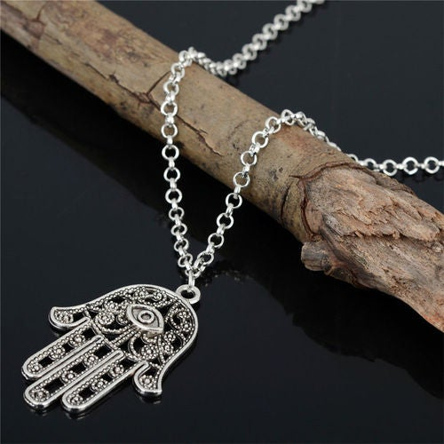Protection From Evil Eye Hamsa Fatima Hand Classic Necklace