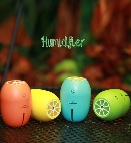 MINI Fresh Color Humidifier Aromatherapy Diffusers Lemon Humidifier for Home Office Car Humidifiers Mist Maker