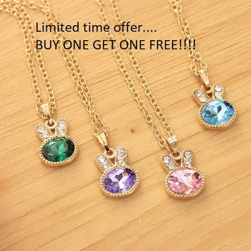 Bogo Offer... Buy one get one FREE!!! Lucky Rabbit pendant necklace comes in 8 colors!!!