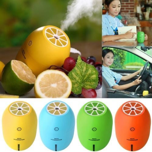 LED USB Lemon Home Car Humidifier Ultrasonic Air Diffuser Purifier Atomizer Mist