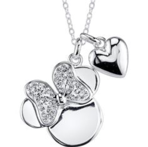 Minnie mouse heart necklace!