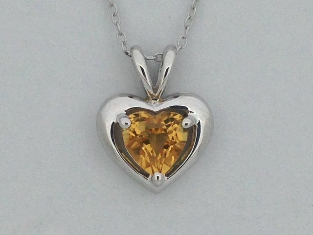 Natural Citrine Pendant 925 Sterling Silver