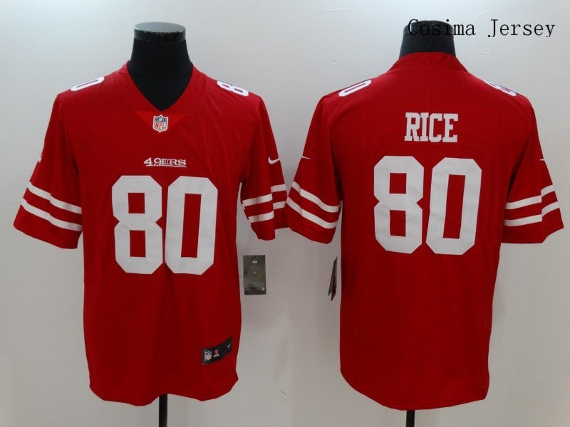 San Francisco 49ers #80 Jerry Rice Jersey Red