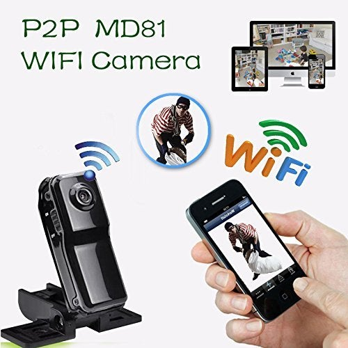 MD81 Mini WIFI IP Wireless Baby Camera Remote Surveillance DV Security Micro IP Camera Web Cam for Iphone Android Ipad PC