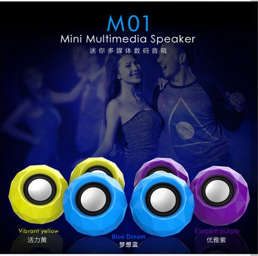 New selling M01 mini portable small speakers desktop computer phone audio home theater subwoofer sound