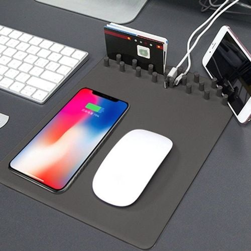 Multi-function Charging Mouse Pad Qi Wireless Charger Pad For iPhone X 8 8 Plus