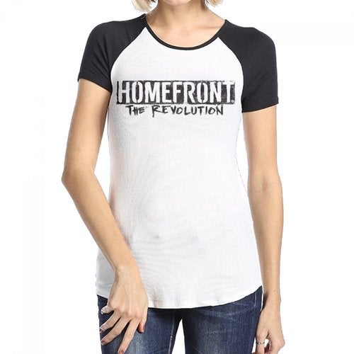 Homefront The Revolution HTR Logo Women's Cotton Short Baseball Raglan Sleeves T-Shirt