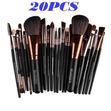 20 pcs/set Makeup Brush Set tools Make-up Toiletry Kit Wool Make Up Brush Set
