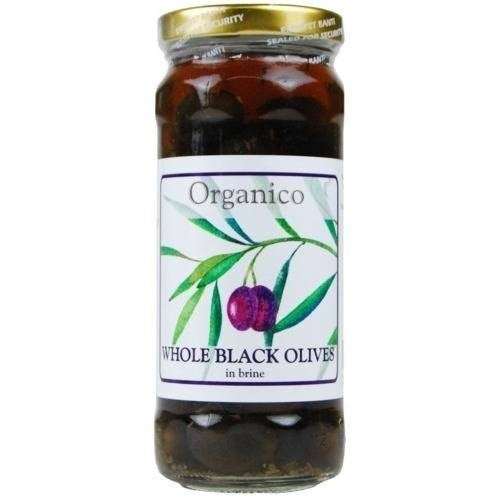 Organico Italian Black Olives in Brine 280g