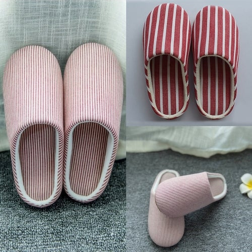 Silent anti-slippery wooden floor slippers winter home indoor soft soled shoes