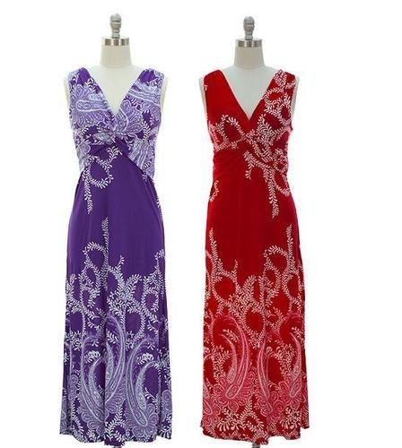 Knot Front Maxi Dress Your choice of Color