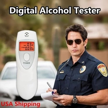 Alcohol Analyzer  Digital Breath Alcohol Tester HX-64 LCD Display Breath Analyze