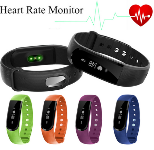 Smart Bracelet BT4.0 Heart Rate Monitor Smartband Pulse Sports Fitness Activity Tracker Wristband For Android IOS (ID101)