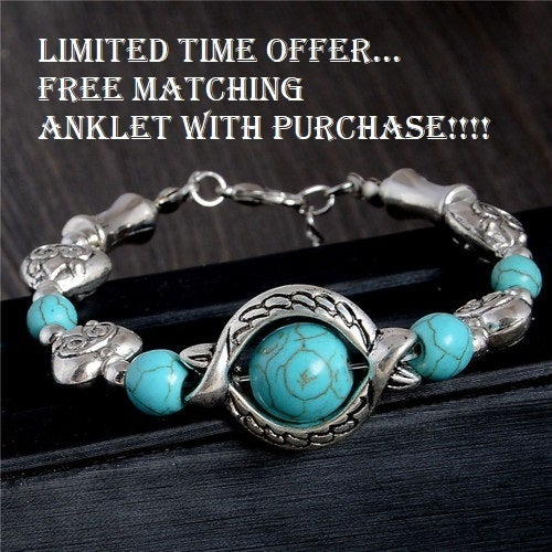 Limited Time Offer...  Free Matching Anklet with purchase!!!