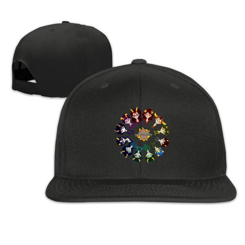Homestuck Hivebent Betas Clock Starsign Adult Snapback Adjustable Print Baseball Caps Flat Hat