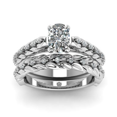 Sterling Silver Inspired Cushion Cut Engagement Ring